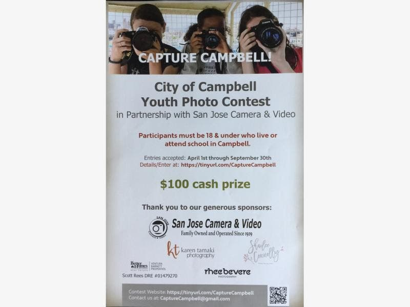 City Of Campbell Announces Capture Campbell Youth Photo Contest