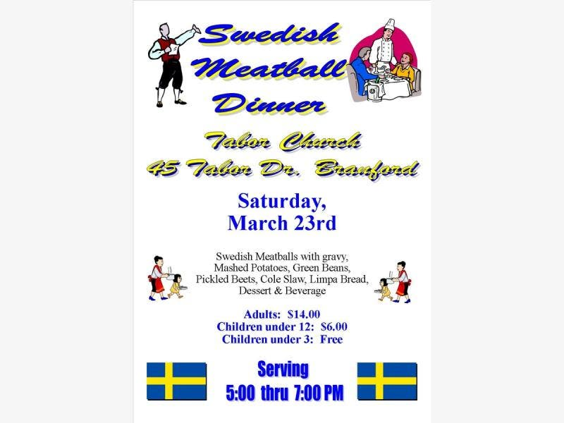Tabor Lutheran Church Swedish Meatball Dinner Saturday March 23rd from 5-7pm - Branford, CT Patch
