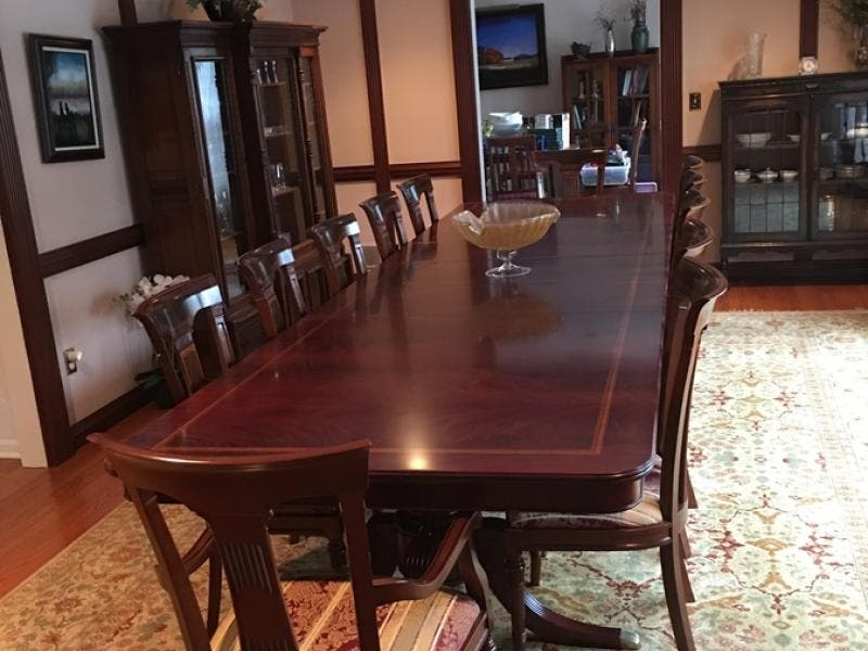 FOR SALE Solid Mahogany Dining Room Table U0026 14 Chairs