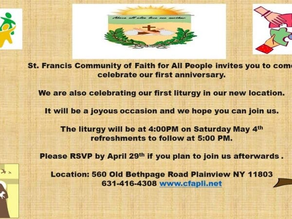 First Anniversary Celebration of St. Francis Community of Faith for All People - Babylon Village, NY Patch