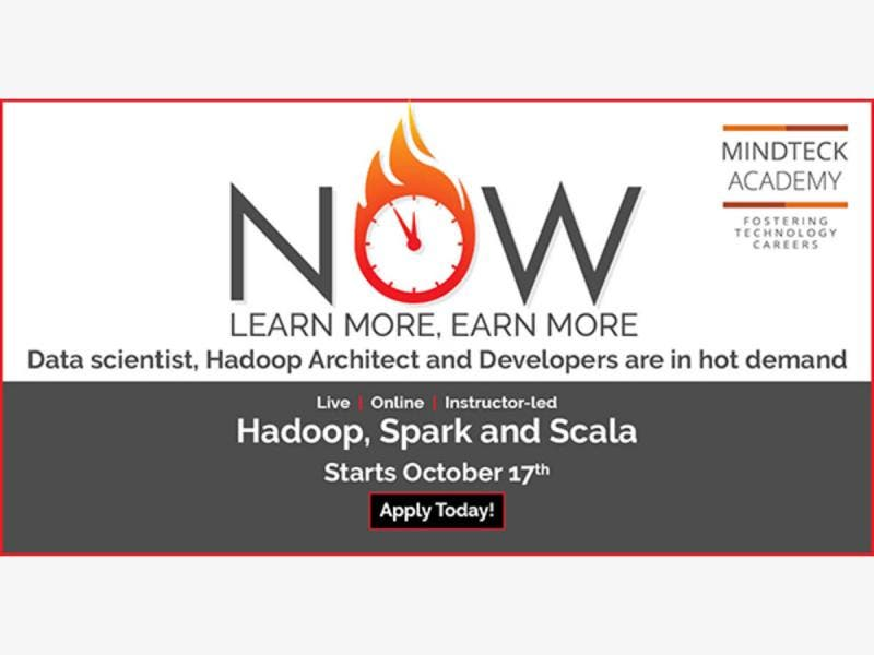 Hadoop, Spark and Scala - Starts October 17th - Harrisburg, PA Patch