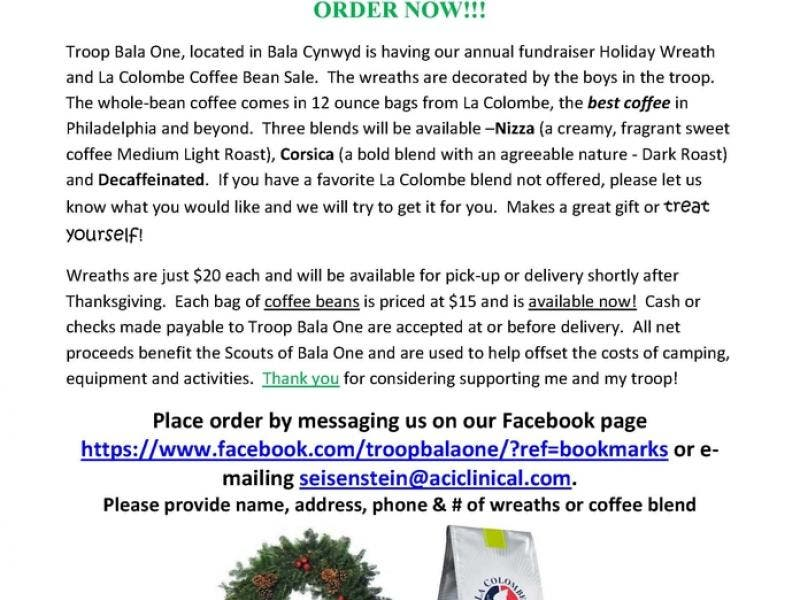 Boy Scout Coffee Fundraiser