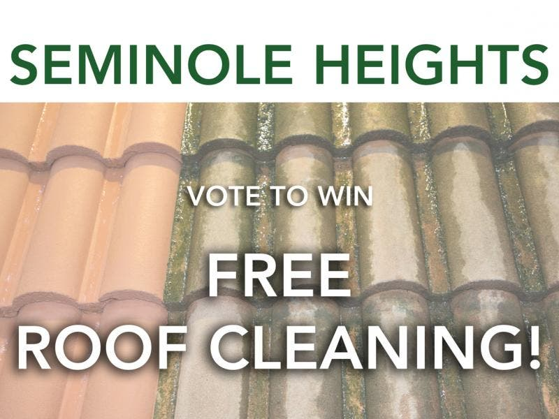 Enter to win FREE ROOF CLEANING from Clean N Green Roof Cleaning! Seminole Heights Only! - Seminole Heights, FL Patch