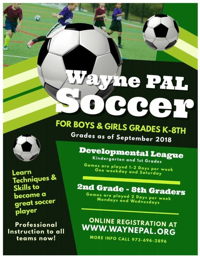 Wayne PAL Fall Soccer Registration Wayne NJ Patch