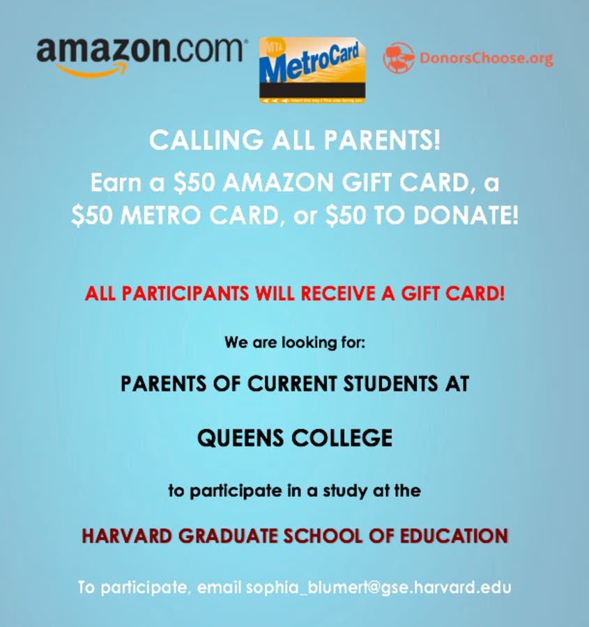 Participate in a Harvard research study and earn $50! - Queens, NY Patch