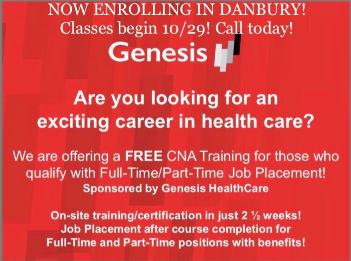 Free CNA Course Sponsorship! Enrolling Now! - Danbury, CT Patch