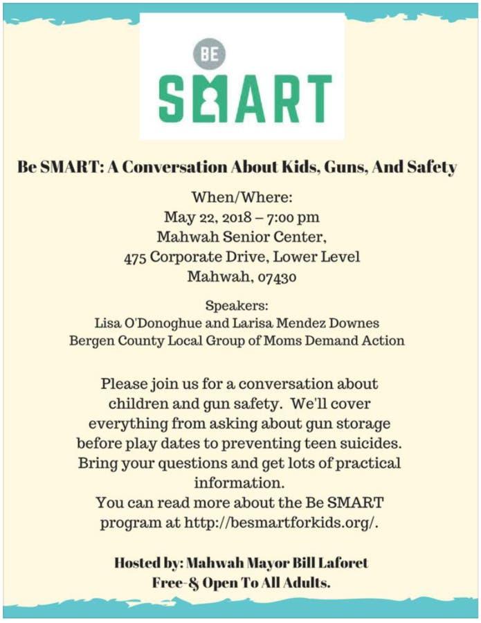 BeSMART: A Conversation About Kids, Guns U0026 Safety   Mahwah ...
