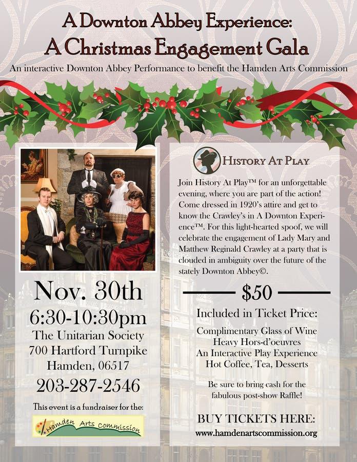 Christmas Fundraiser Flyer.Fundraiser Event A Downton Abbey Experience A Christmas