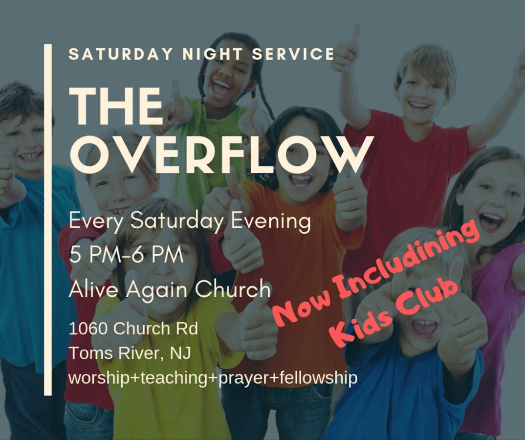 Saturday Evening Worship Services Begin at Alive Again