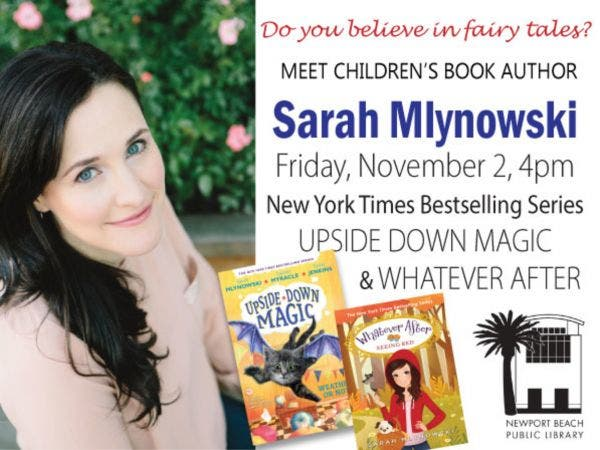 Children S Author Sarah Mlynowski At Newport Beach Library