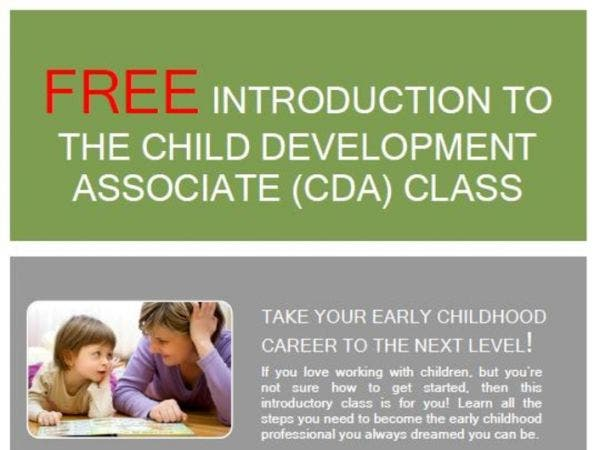 sep 11 | open house for the child development associate cda | newark ...