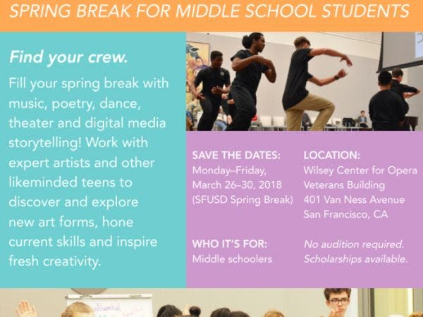 Performing Arts Connection Spring Break For Middle Schoolers