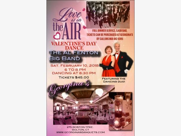 Feb 10 Love Is In The Air Valentine S Day Dinner Dance South