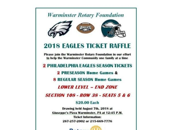 aug 1 fundraiser warminster rotary s annual eagles tickets raffle