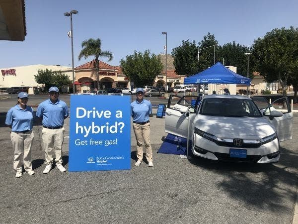 Free Gas From Helpful Honda For Hybrids In San Bernardino County