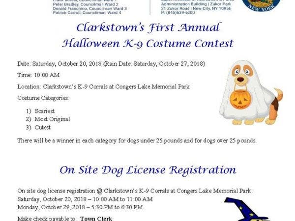 oct 20 clarkstown s first annual halloween k 9 costume contest