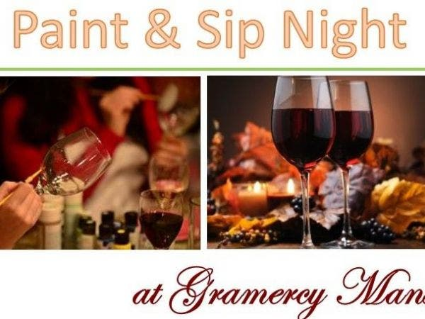 Nov 18 Paint And Sip Night Decorative Wine Glasses Lutherville