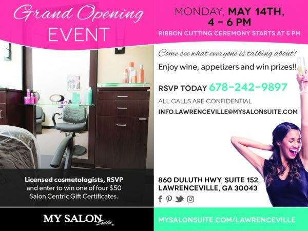 MY SALON Suite Lawrenceville Grand Opening