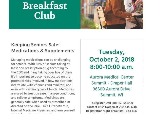 Keeping Seniors Safe Medications Supplements