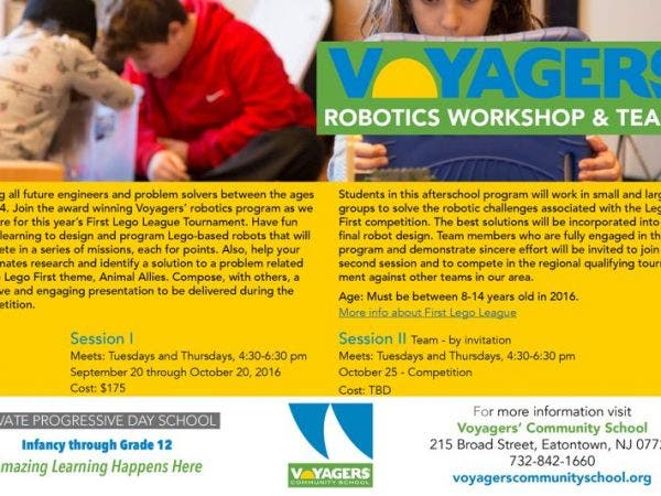 Oct 25 Voyagers Community School Forming A Lego First Robotics