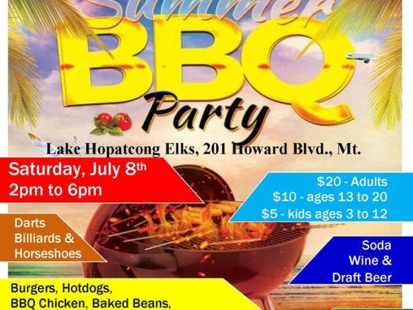 jul 8 summer bbq party hopatcong sparta nj patch