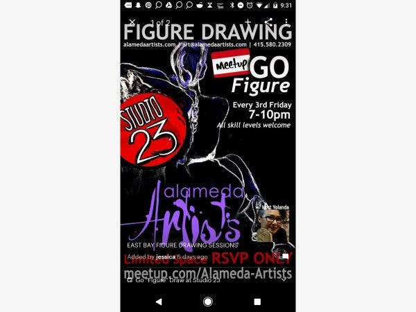 Mar 15 | East Bay Figure Drawing | Alameda, CA Patch