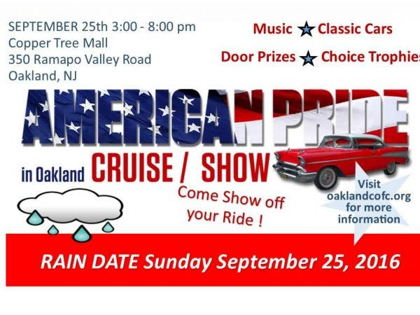 Sep American Pride In Oakland Car Show Oakland NJ Patch - Oakland car show