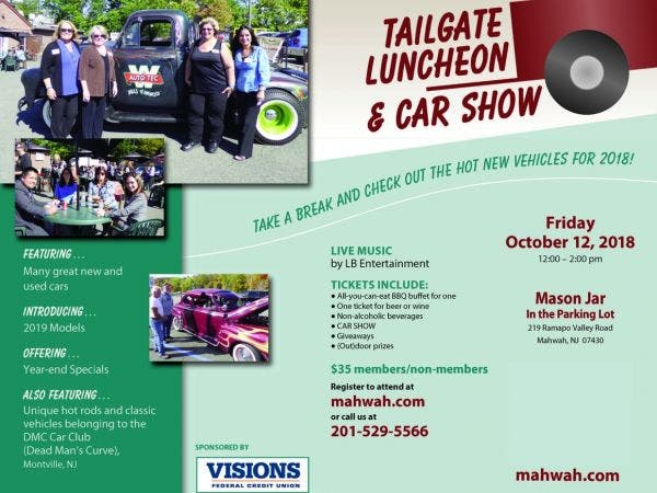Oct Tailgate Luncheon Car Show Mahwah NJ Patch - Car show giveaways