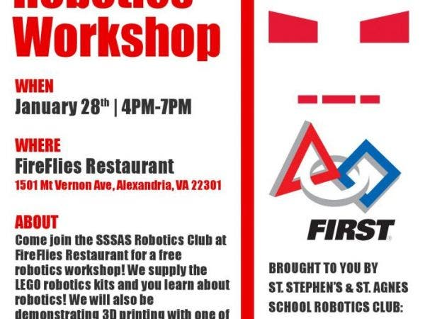 Jan 28 Free Robotics Workshop For Lower And Middle School Students