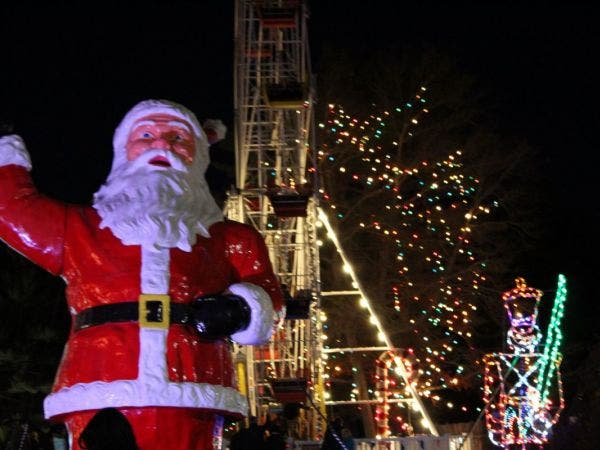 theme park open featuring christmas festival of lights edaville express wheres santa train ride