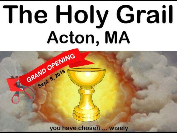sep 8 grand opening the holy grail new neighborhood pub