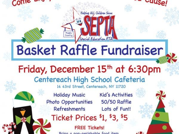 basket raffle to benefit middle country septa