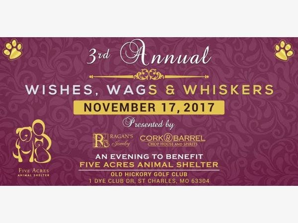 Nov 17 3rd Annual Wishes Wags And Whiskers Fundraiser St