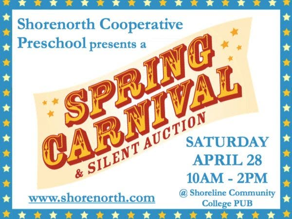 Apr 28 Spring Carnival Auction Benefiting Shorenorth Co Op