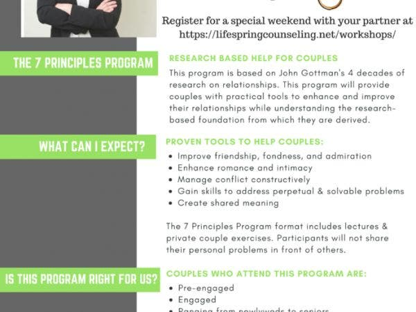 apr 21 the 7 principles of making marriage work workshop towson
