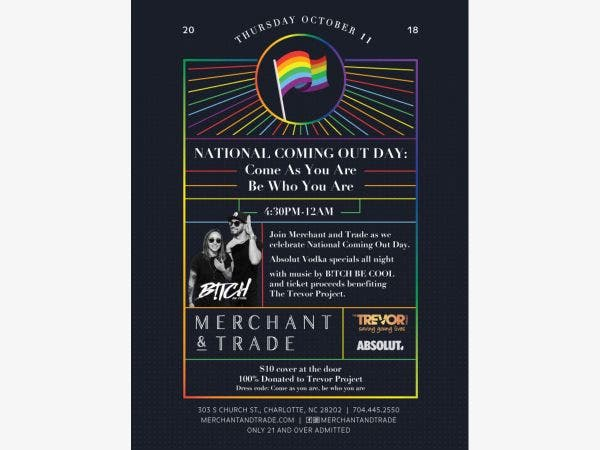 Merchant Trades National Coming Out Day