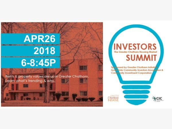 Apr 26 The Greater Chatham Housing Market Investors