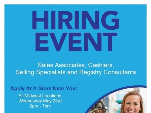 May 23 Bed Bath And Beyond Job Fair Hinsdale Clarendon Hills Il