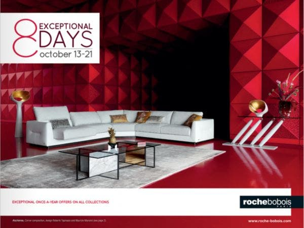 8 Exceptional Days With Roche Bobois