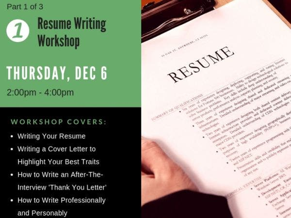 dec 6 resume writing workshop new london ct patch