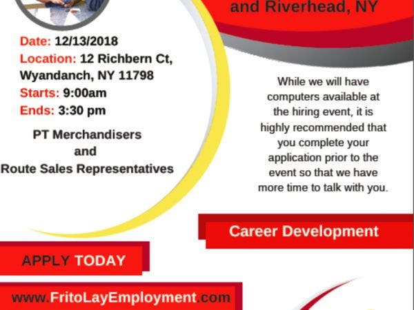 Dec 13 Frito Lay Hiring Event Thursday 12 13 18 Deer Park
