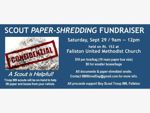 sep 29 shred personal papers day fallston md patch