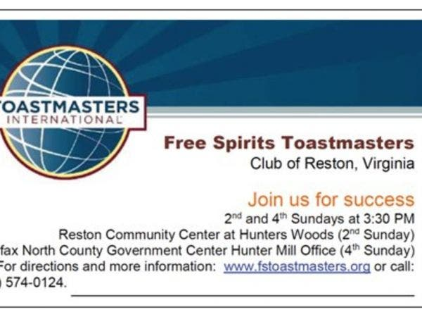Nov 25 Free Spirits Toastmasters Club Of Reston Reston Va Patch