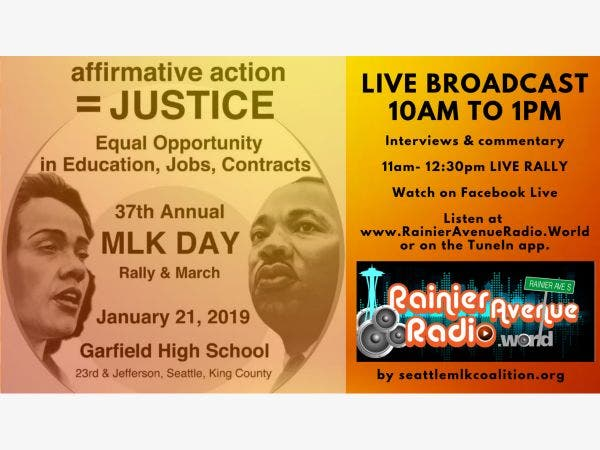 Jan 21 Live Broadcast Of Mlk Jr Day At Garfield Hs Seattle