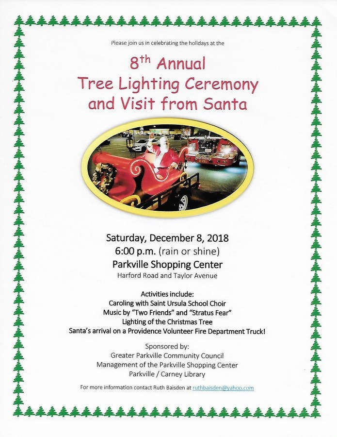 Annual Tree Lighting And Visit From Santa