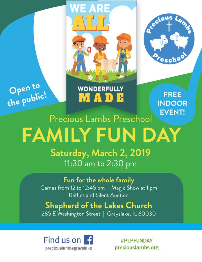 Mar 2 Precious Lambs Preschool Family Fun Day Grayslake Il Patch