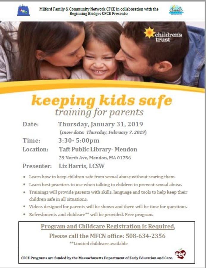 Parents Can Learn How To Prevent >> Jan 31 Keeping Kids Safe A Training For Parents Of Young