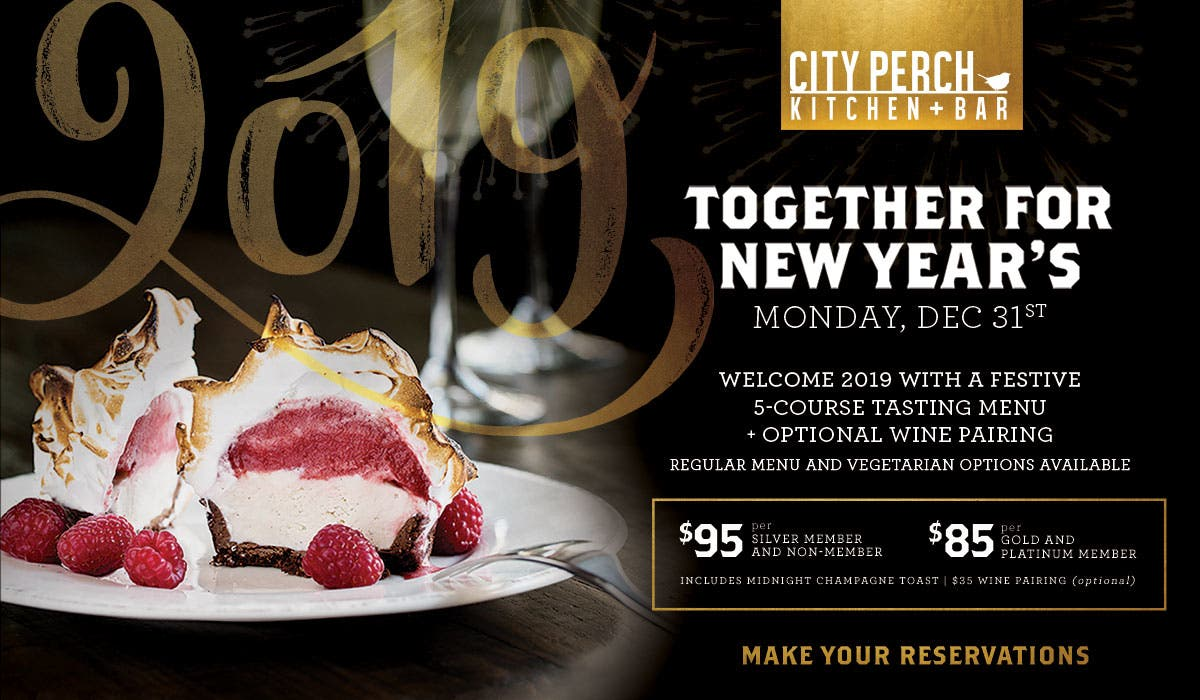 Dec 31 Toast To 2019 At City Perch Kitchen Bar Five