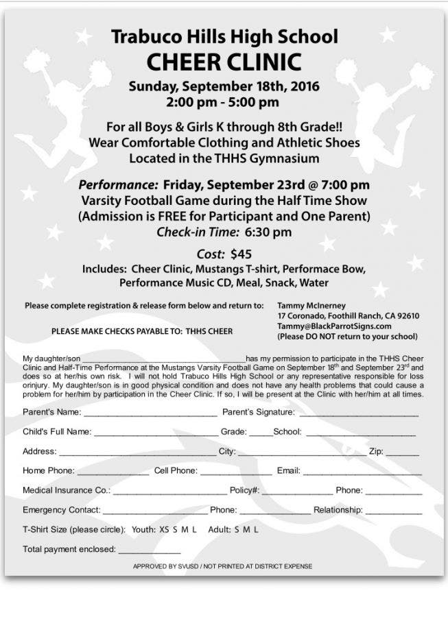 Dec 31 | Trabuco Hills High School Cheer Clinic | Lake
