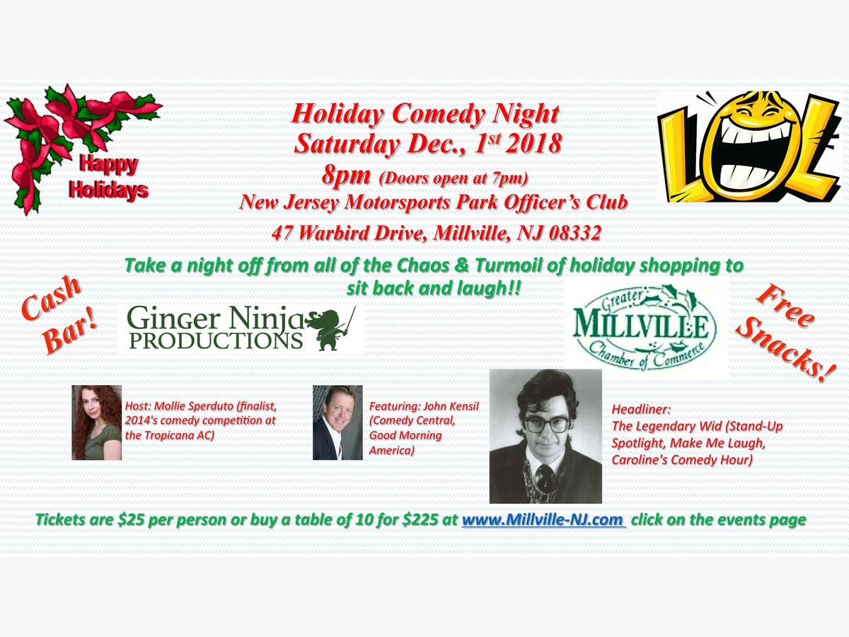 Dec 1 Comedy Night At New Jersey Motorsports Park